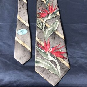 Tommy Bahama wide tropical flower tie
